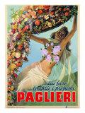 """Advertising Poster """"Dai Fiori Le Ciprie I Profumi Paglieri"""" Giclee Print by Giovanni Antonio Pellegrini"""