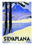 Advertising Poster Silvaplana Reproduction procédé giclée par Ludwig Hohlwein