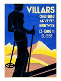 Advertising Poster for Villars Giclee Print
