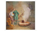 Esau Selling His Birthright for a Lentil Plate Giclee Print by Marcello Dudovich