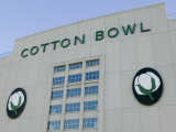Low Angle View of an American Football Stadium, Cotton Bowl Stadium, Fair Park, Dallas, Texas, USA Photographic Print