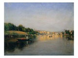 The Po River in Turin Giclee Print