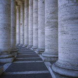 Columns of a Building, St. Peter's Square, Rome, Italy Photographic Print