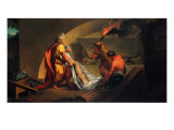 Tobit Burying the Dead Giclee Print by Jacob-Philippe Hackert