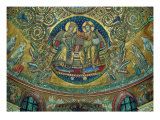 Apsidal Mosaic in Santa Maria Maggiore, Rome. Christ Crowning the Virgin Giclee Print by Hans Burgkmair