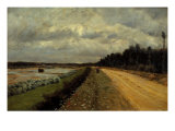 Country Road. Along the Banks of the Ofanto River Giclee Print by Felice Giani