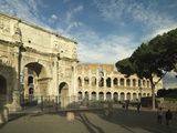 View of the Arch of Constantine and the Flavian Amphitheatre (Or Colosseum) in Rome Giclee Print