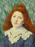 Girl with White Small Collar Giclee Print by Monet Claude
