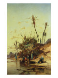 Landscape with Figures on the Nile Giclee Print