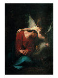 Christ Comforted by an Angel Giclee Print