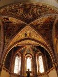 Basilica of Santa Chiara in Assisi Fotografisk tryk af Giusto De' Menabuoi