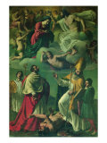 Coronation of the Virgin and Sts Charles Borromeo and Ubald Gicl&#233;e-Druck