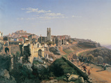 The Melfi Earthquake Giclee Print by Ippolito Caffi