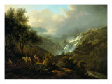 The Small Waterfalls Nearby Tivoli Giclee Print by Arturo Ferrari