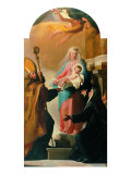 Madonna of the Belt, St Augustine and St Monica Giclee Print by Jacob-Philippe Hackert