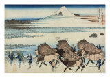 The Rice-Fields of Ono in the Suruga Province Giclee Print by Arturo Ferrari