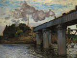 The Argenteuil Bridge Reproduction procédé giclée par Claude Monet