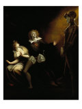 Gertrude, Hamlet and the Ghost of Hamlet's Father Giclee Print