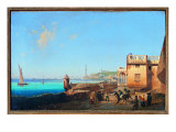 View of the Prince Palace with the Lighthouse Premium Giclee Print by Nicola Grassi