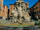 Fountain in Piazza Della Rotonda Photographic Print by  Leonardo da Vinci