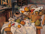 Still-Life in the Basket or the Kitchen Table Giclee Print