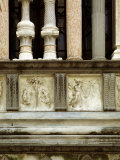 Facade of the Colleoni Chapel in Bergamo Fotografie-Druck von Umberto Veruda