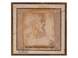 Study Sketch for a Bearded Male Head Giclee Print by Pieter Bruegel the Elder