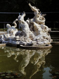 Fountain in the Royal Gardens, Turin Photographic Print by Luca Della Robbia