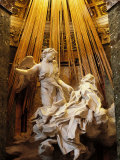 Rome, Church of Santa Maria Della Vittoria: Ecstasy of St Theresa Photographic Print