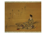 The Poet Kakinomoto No Hitomaro Giclee Print
