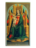 Enthroned Madonna and Child with Two Angels Premium Giclee Print by Giulio Carpioni