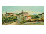 View of Coriano Giclee Print