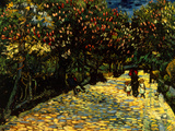 Street with Chestnuts Blossoming Giclée-Druck