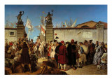 The Proclamation of the Free Port of Trieste Giclee Print by Carlo Arienti