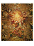 Triumph of the Name of Jesus Reproduction proc&#233;d&#233; gicl&#233;e par Il Baciccio