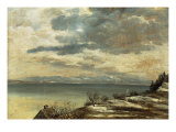 Dark Winter Day on Lake Constance Giclee Print