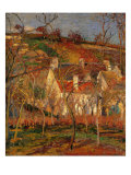 Red Roofs, Corner of a Village, Winter Giclee Print by Camille Pissarro