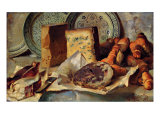Still Life with Cheese and Salami Reproduction procédé giclée par Ludovico Brea