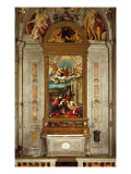 Carlo Da Rho Chapel with Altarpiece Portraying the Holy Family Reproduction procédé giclée par Ernesto Rayper