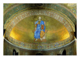 Wall Mosaic of the Apsidal Conch with Christ Blessing Giclee Print by Adrian Ludwig Richter