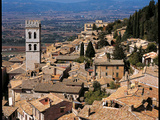 View of Assisi with the Torre Del Popolo Photographic Print