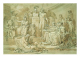 The Genius of Fine Arts Crowns the Herm of Antonio Canova Giclee Print by Jacopo da Carucci Pontormo