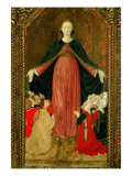 Triptych of the Madonna of the Misericordia (Or Virgin of the Mercy) Giclee Print by Felice Giani