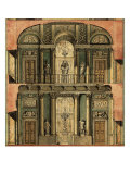 Project Plan of Villa Olmo in Como: Longitudinal Section of the Ballroom Giclee Print by  Caravaggio