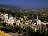 Assisi from the Rocca Maggiore, with the Cathedral of San Rufino and the Santa Chiara Church Photographic Print