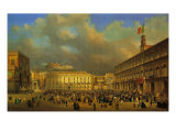 Vittorio Emanuele II Enters Naples Giclee Print by Andrea Appiani