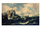 Storm at Sea Reproduction procédé giclée par Ernesto Rayper