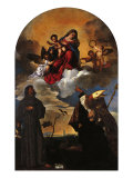 Madonna in Glory with the Christ Child and Sts Francis and Alvise with the Donor (Gozzi Altarpiece) Giclee Print by  Parmigianino