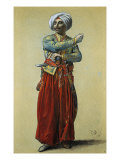 Standing Turkish Man Giclée-Druck von Francesco Vanni