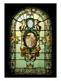 Stained-Glass Window with Hagiographic Episode Giclee Print